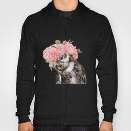 Owl with Flowers Crown Hoody