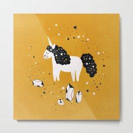 Stellar Unicorn with Stars and Constellations Metal Print
