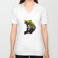 motorcycle V-neck T-shirts featuring Motorcycle by bike51design