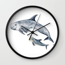 Risso´s Dolphin Wall Clock