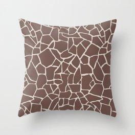 Brown Elephant Throw Pillow