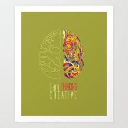 I am thinking Creative Art Print