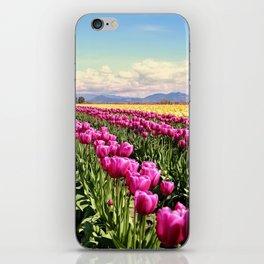 Tulip field iPhone Skin