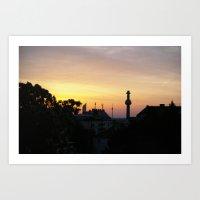 Dawn in Vienna Art Print
