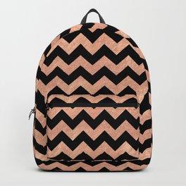 Chevron Pattern Rose Gold Backpack