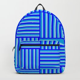 Havana Cabana - Blue Weave Stripe Backpack