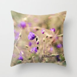 Purple Past Throw Pillow