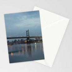 Triborough Bridge at Night. Stationery Cards
