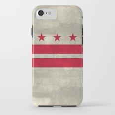 Washington D.C flag with worn vintage textures Tough Case iPhone 7