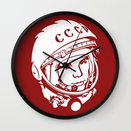 CCCP Yuri Gagarin Design for Wall Art, Prints, Posters, Tshirts, Men, Women, Kids Wall Clock