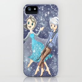 Jack Frost and Elsa iPhone Case