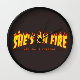 Scarface She's on Fire  Wall Clock