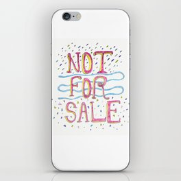 Not For Sale iPhone Skin