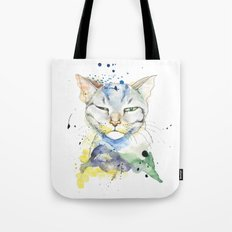 Suspicious Cat Tote Bag