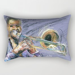 Jazz Trombonist Rectangular Pillow