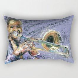Jazz Trombonist Rectangular Pillow