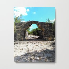 A Mayan Archway Metal Print