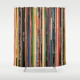 Alternative Rock Vinyl Records Shower Curtain
