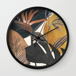 Abstract Tropical Art III Wall Clock