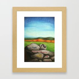 Dan's Rock Framed Art Print