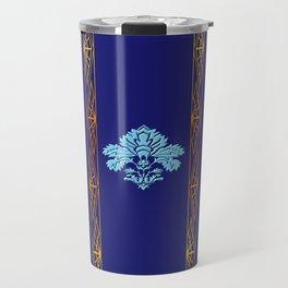 Chic Classique Art Deco Mediterranean blue Travel Mug
