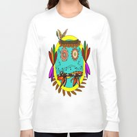 hippie Long Sleeve T-shirts featuring Hippie Smilie by Wired Circuit
