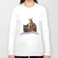 thranduil Long Sleeve T-shirts featuring Thranduil - Flower Crown by River
