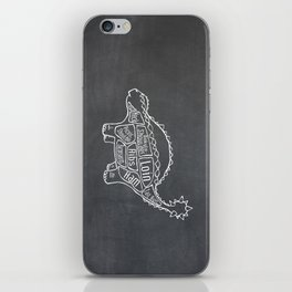 Ankylosaurus Dinosaur (A.K.A. Armored Lizard) Butcher Meat Diagram iPhone Skin