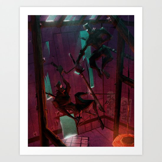 I HAVE A THING FOR NINJAS Art Print