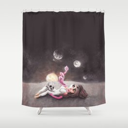 Lost far away from home Shower Curtain