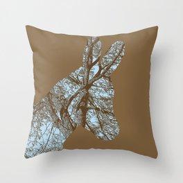 Woodland Donkey Throw Pillow