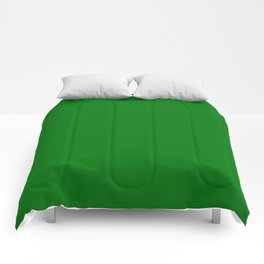 Christmas Holly and Ivy Green Velvet Color Comforters