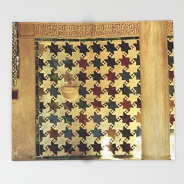Mexuar at the Alhambra. Vintage Throw Blanket