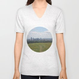 View of Calgary from Nosehill Unisex V-Neck