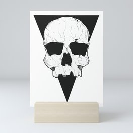 Geometric skull Mini Art Print