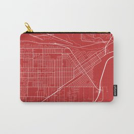 Billings Map, USA - Red Carry-All Pouch