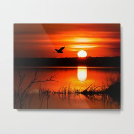 Early Spring Sunrise Metal Print