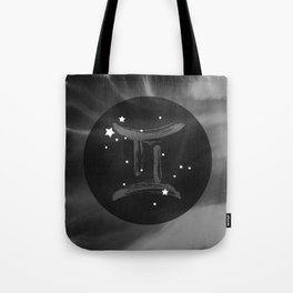 Gemini Zodiac Watercolor Tote Bag