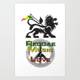 Reggae, Music & Love Art Print