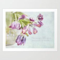 love tulips Art Print