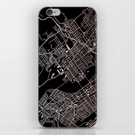 Wilkes-Barre Rose Gold and White Map iPhone Skin