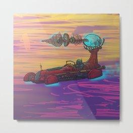 Spacecar Metal Print