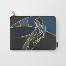 Art Deco Woman in Navy Blue #1 Carry-All Pouch