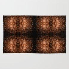 Beautiful Bronze Orange Brown glitters sparkles Rug