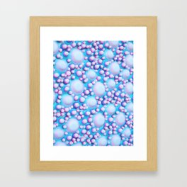Cluster Study Pink Framed Art Print