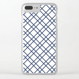 Geometric White Clear iPhone Case
