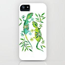 Geckos – Green Palette iPhone Case