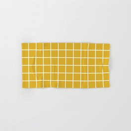 Minimalism Window Pane Grid, Mustard Yellow Hand & Bath Towel