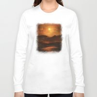sunset Long Sleeve T-shirts featuring Sunset by Viviana Gonzalez