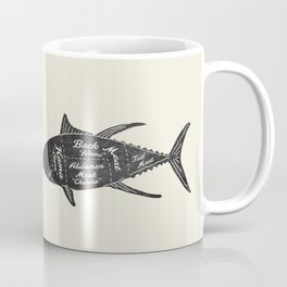 Tuna Butcher Diagram-Fish Coffee Mug